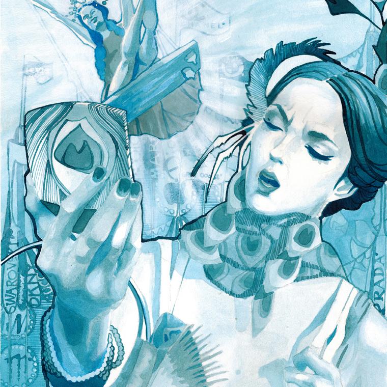 Peacock_Turquoise_Illustration_Acrylic_I