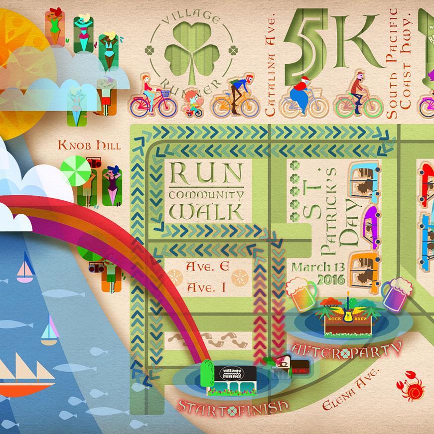 Map_Saint Patricks_Illustration_Vector_B