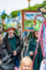 Textile Banner Parade by Edgelands Arts