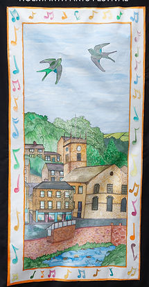 Banner by Edgelands Arts for Sing Holmfi