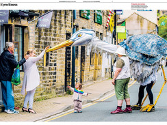 The Heron at Holmfirth Arts Festival