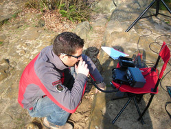 Me using QRP station