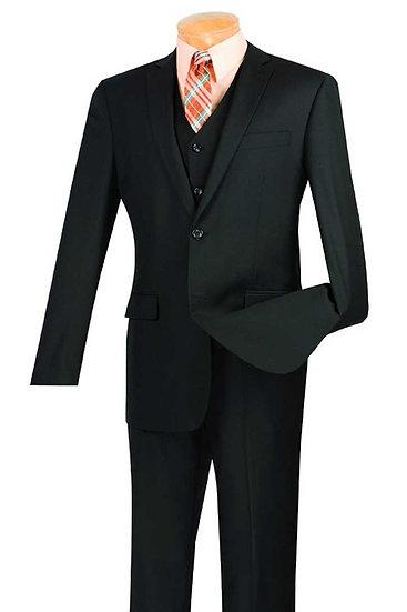 Slim Fit, Solid 3 piece suit
