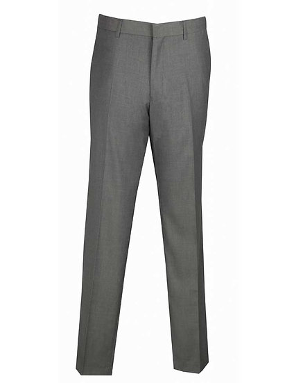 Solid, Slim-fit pre-hemmed slacks