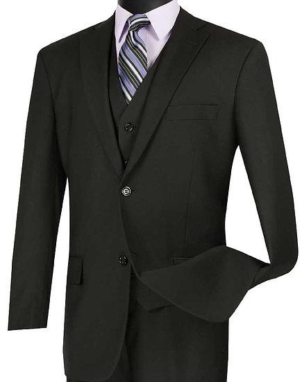 Classic fit, Solid 3 piece suit