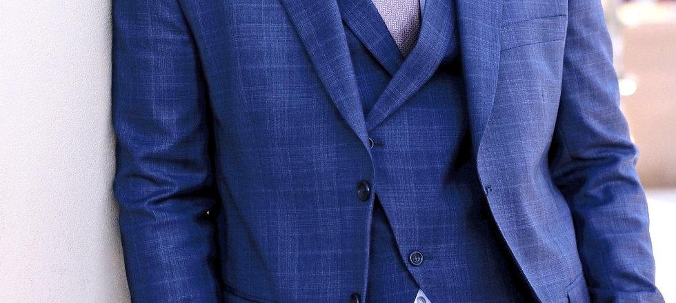 Slim fit, Plaid 3 piece suit