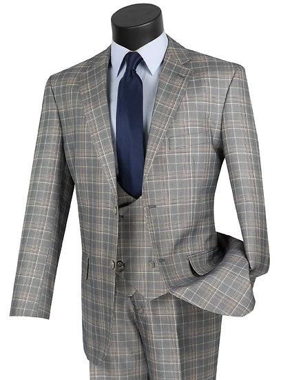 Classic Fit, Plaid 3 piece suit