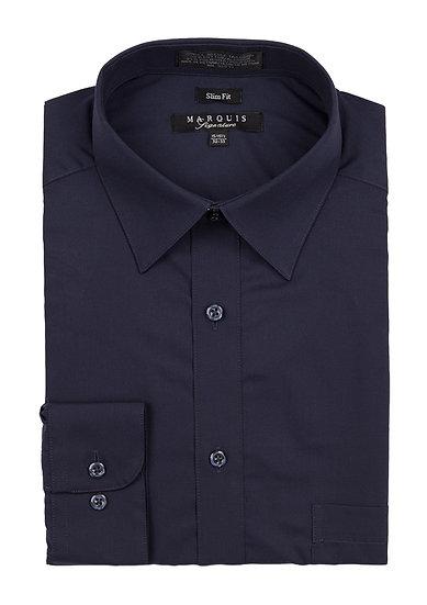 Navy Slim Fit Dress Shirt