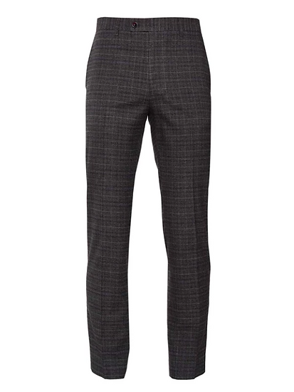 Downing Pant - Charcoal, Berry & Cream Plaid