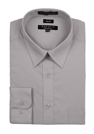 Silver Slim Fit Dress Shirt