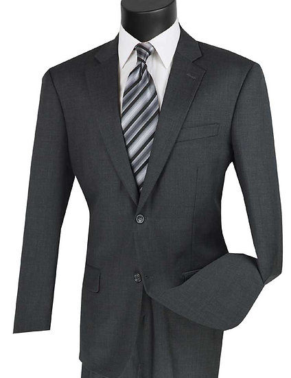 Classic fit, Textured weave 100% Wool Suit