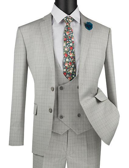 Slim fit, Glen plaid 3 piece suit