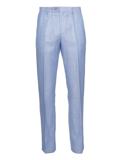 Ashton Peak Pant - Light blue herringbone