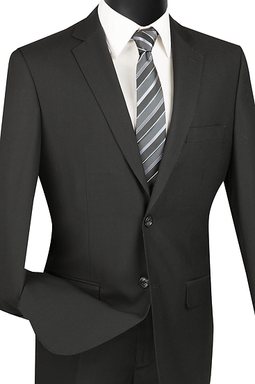 Slim fit, Solid 2 piece suit