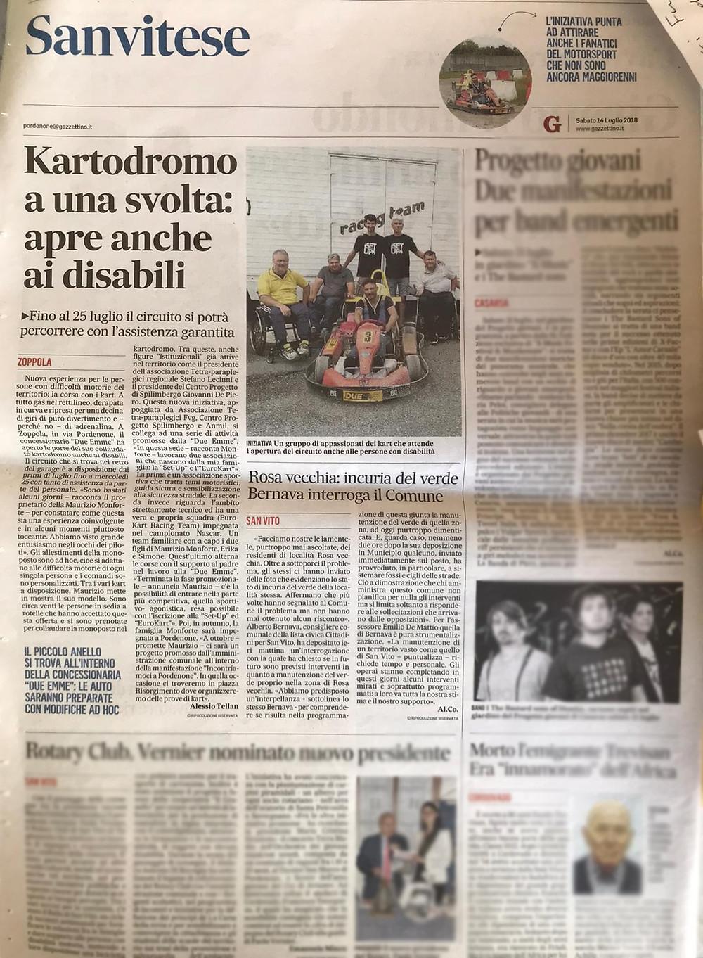 Il nostro progetto finalizzato all'inclusione della disabilità nel motorsport!