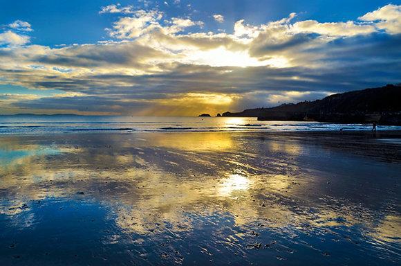Clearing Sky, Saundersfoot Beach