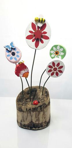 Flowers & Ladybird