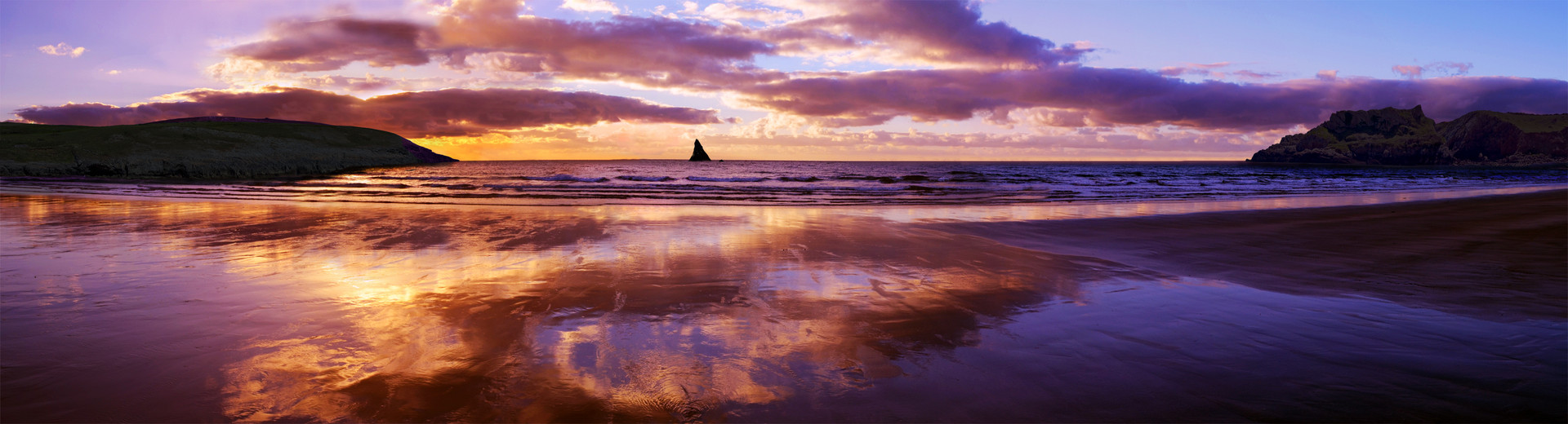 Sunrise at Broad Haven South Beach