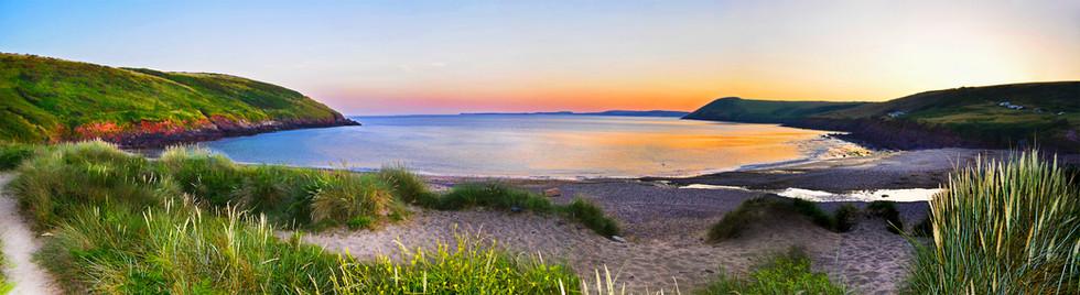 Sunrise at Manorbier Bay