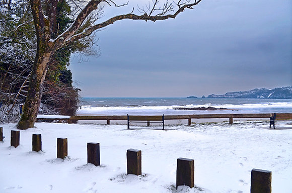 Snow at Coppet Hall