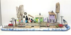 Coastal Village Scene