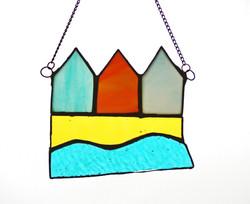 3 Beach Huts, on chain