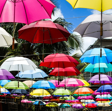 Umbrella's in Port Louis