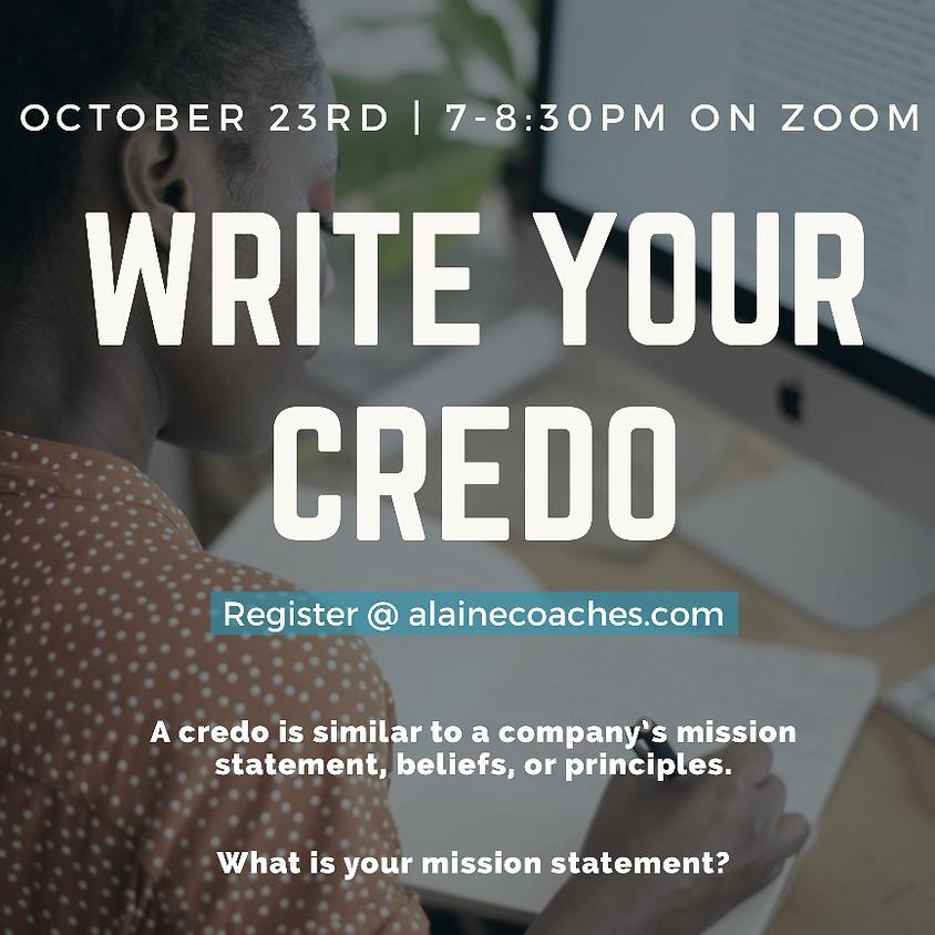 Write Your Credo