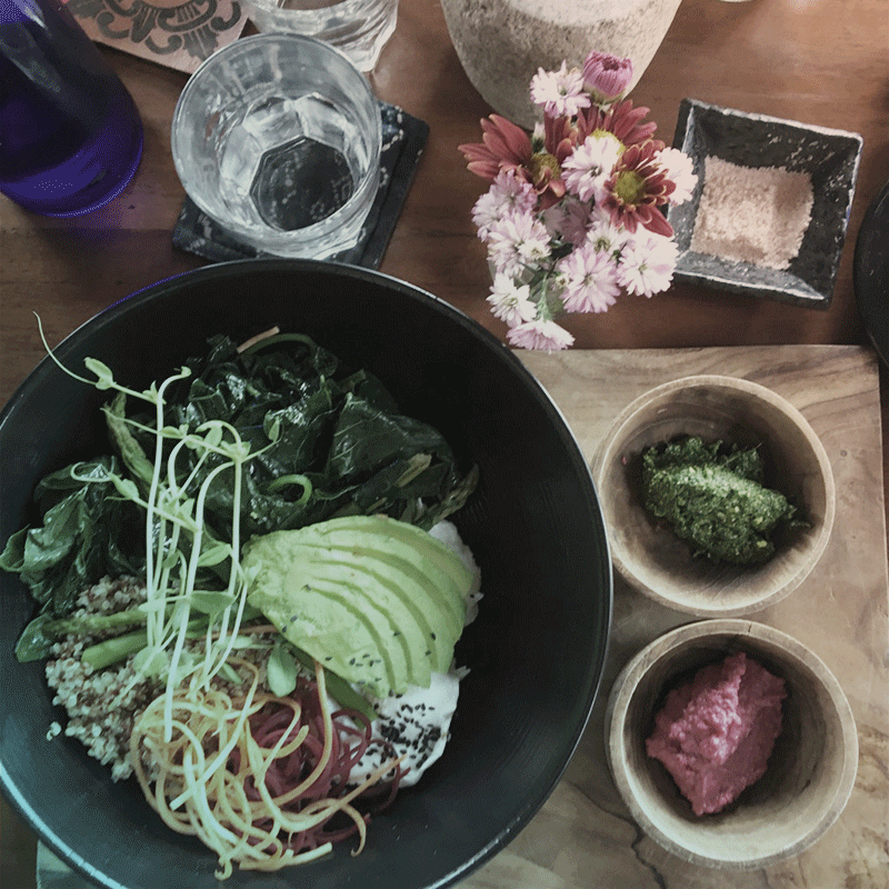 Vegan bliss, or plant based bowl