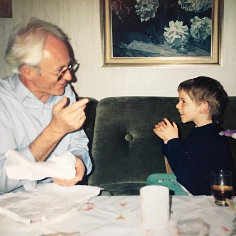 My grandpa and me around 1990