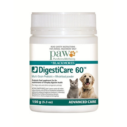 Paw by Blackmores DigestiCare 60 Multi-strain Probiotic