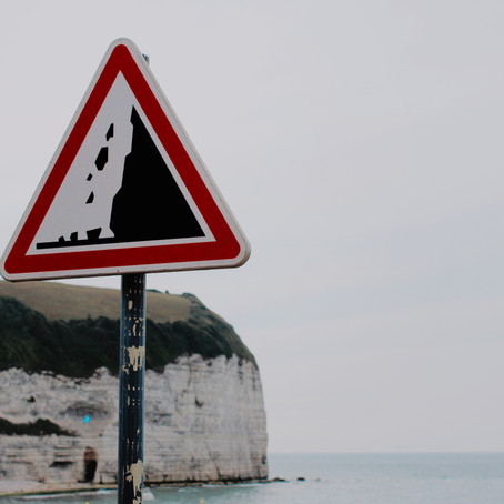 توجه خطر ریزش  سنگ