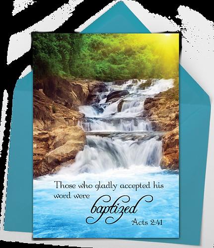 Baptism Greeting Card and Envelope