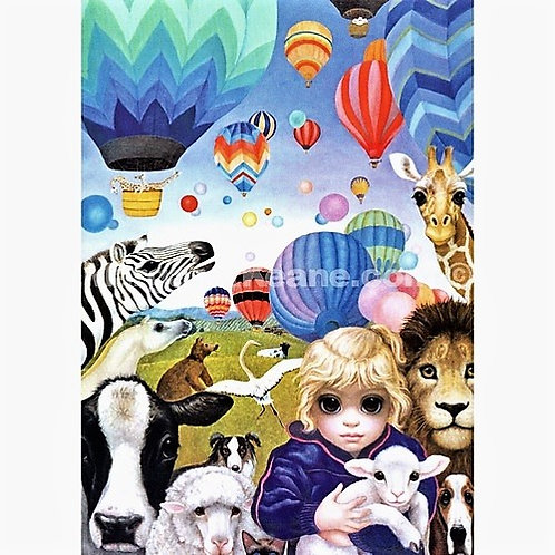 Who Says Animals Can't Fly - Margaret Keane Greeting Card and Envelope