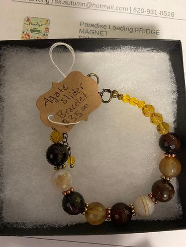 Agate Slider Bracelet