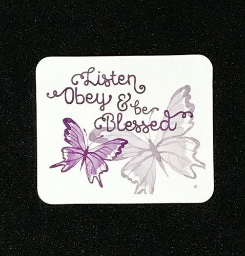 Listen, Obey & Be Blessed FRIDGE MAGNET