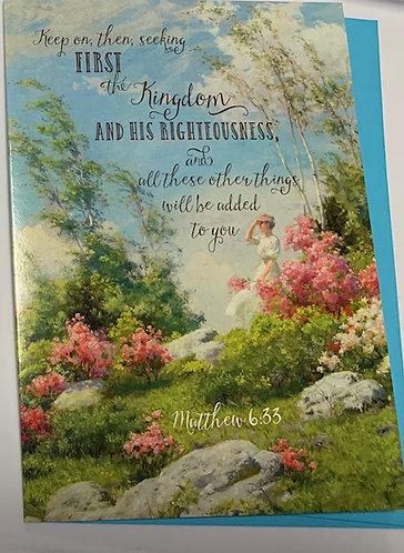 'Seek First The Kingdom' Greeting Card