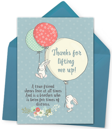 Greeting Card and Envelope