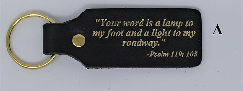 Psalms 119:105 Scripture Key Fob