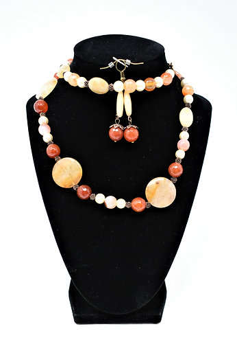 Handmade Jewelry Combo – Agate and Pearl