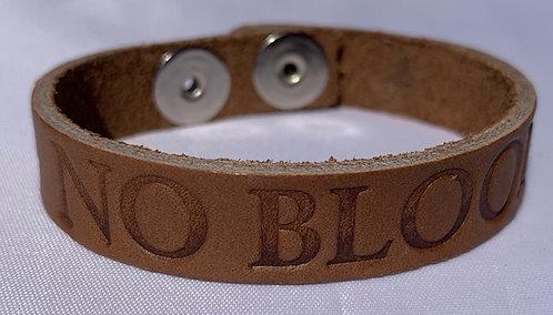 Leather'No Blood' Cuff Bracelets