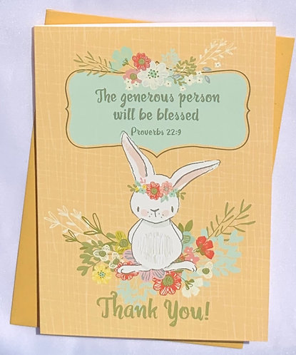 Generous Person Greeting Card with Envelope