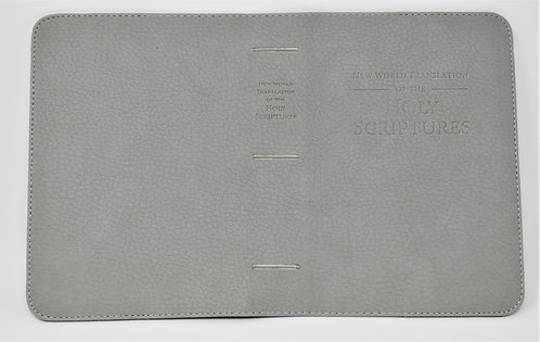 Hand Made Bible Cover – Light Gray/ English