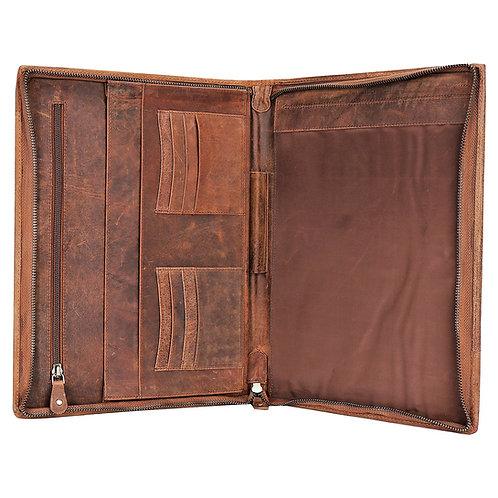 Leather Business Deluxe Organizer Folio