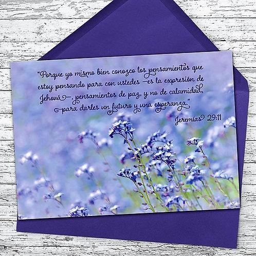 Spanish Jeremiah 29:11 Greeting Card and Envelope