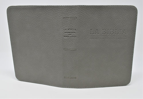Hand Made Bible Cover – Light Gray/ Spanish
