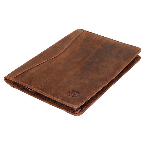 Leather Classic Zip Folio