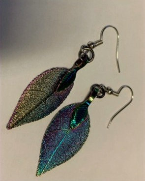 Metallic Leaf Earrings