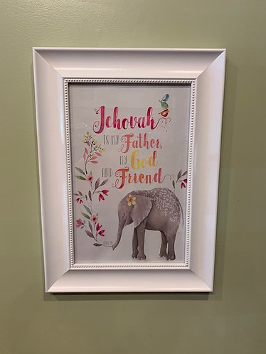 Elephant Poster with Frame