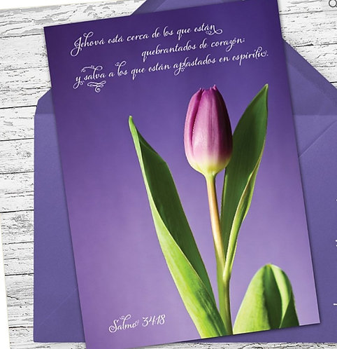 Spanish Greeting Card- Salmo 34:18